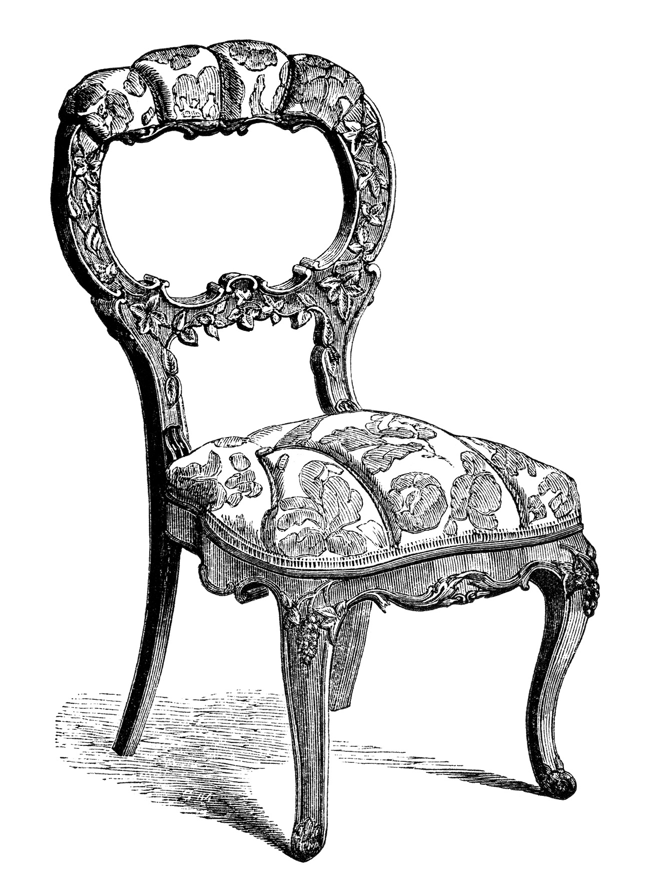 Vintage Chairs Antique Chairs Free Clip Art Engravings Old Design