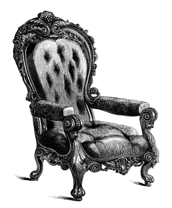 Antique Chairs Free Clip Art Engravings - Design