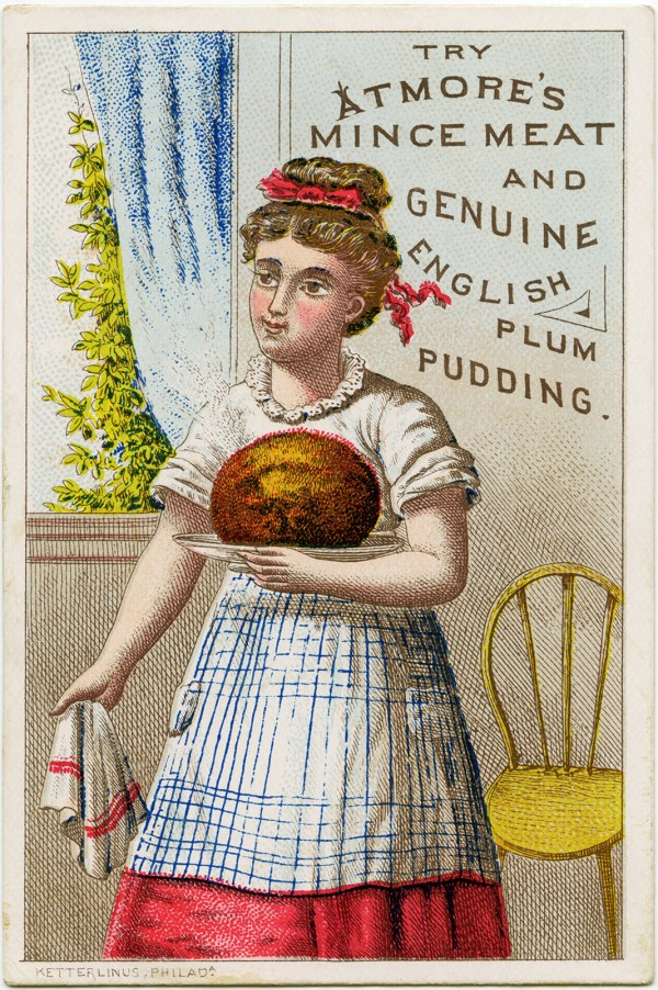 Atmore' Mince Meat Victorian Trade Card Free Graphic - Design