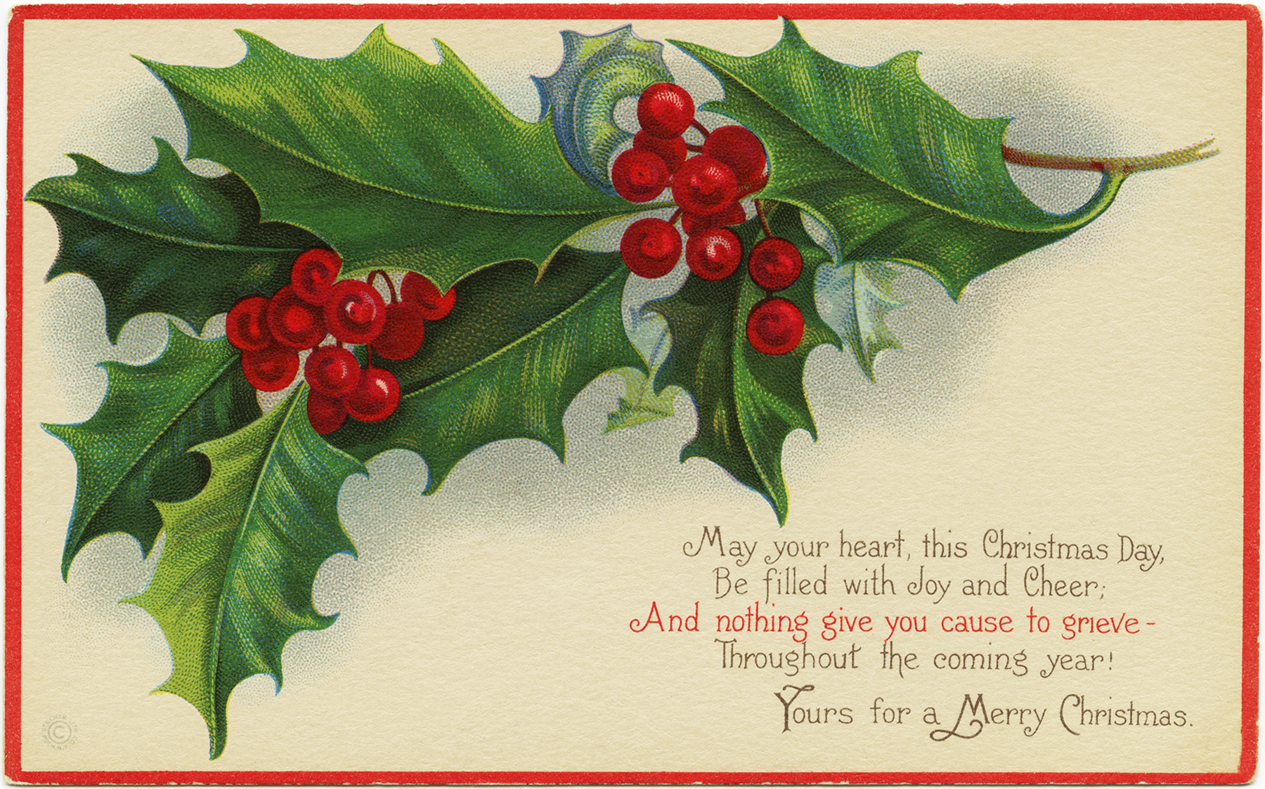 Old Fashioned Christmas Cards To Print
