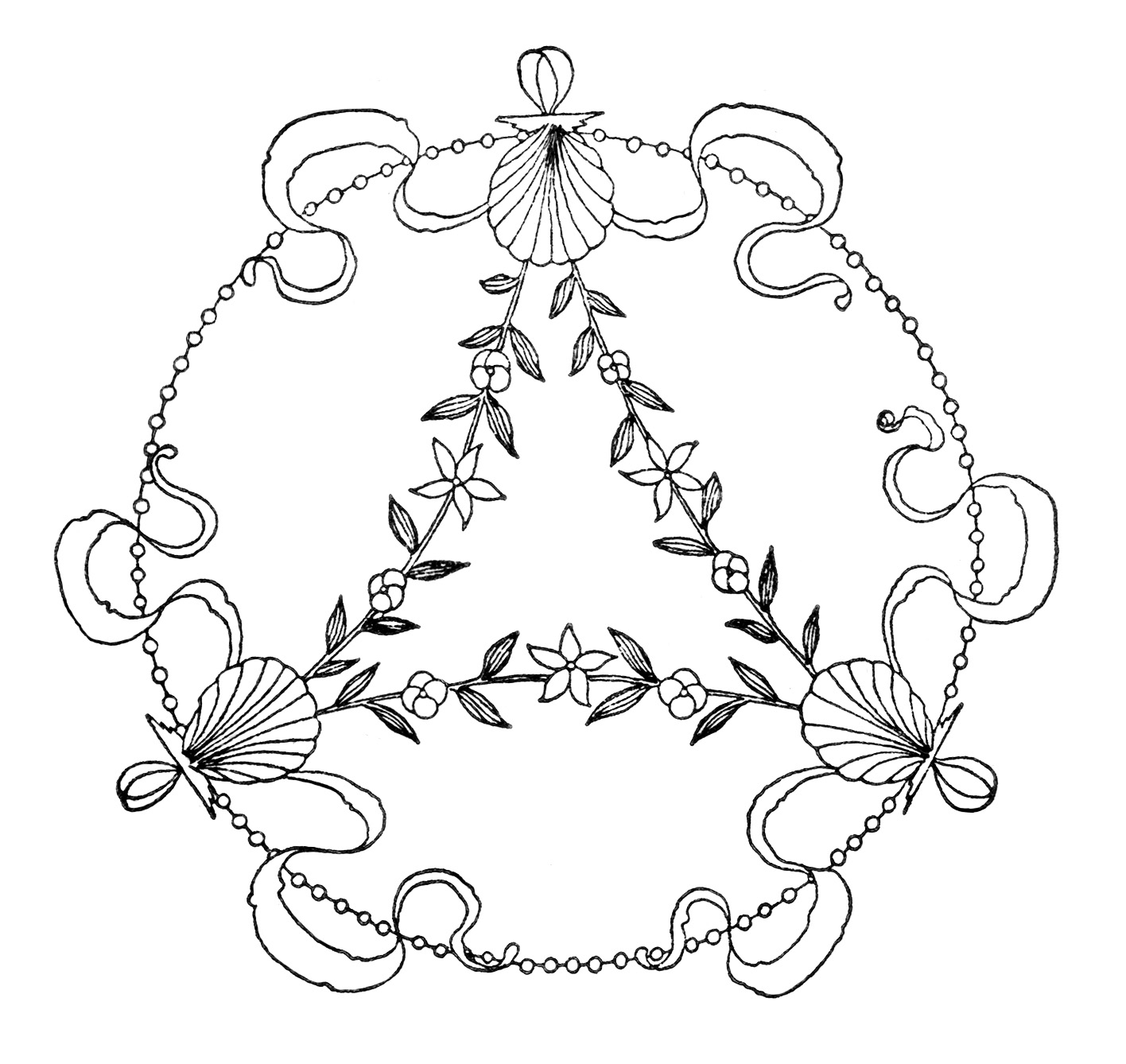 hight resolution of  vintage embroidery design free black and white clip art antique swirly sketch