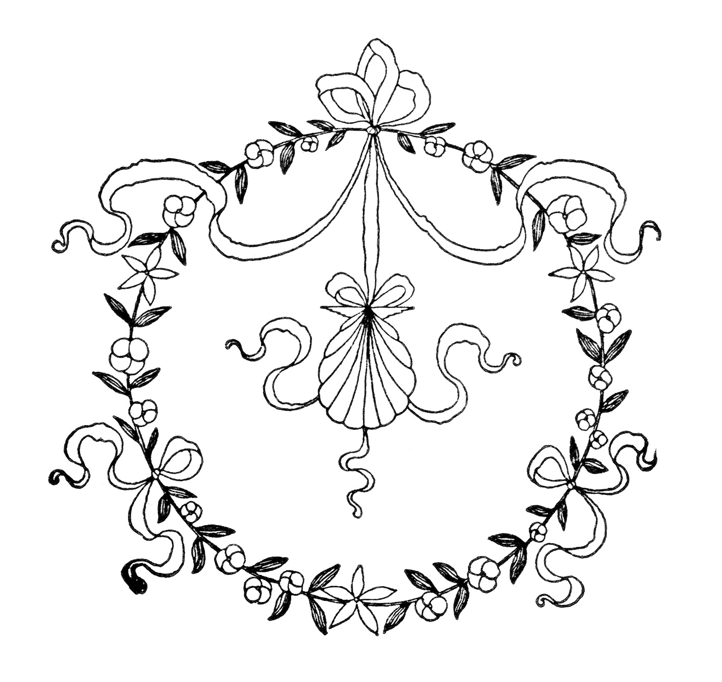 Free Clipart Vintage Embroidery Designs