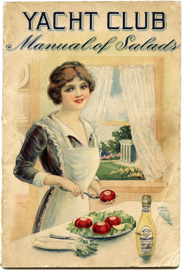 Manual Of Salads Shabby Front Cover Free Vintage - Design