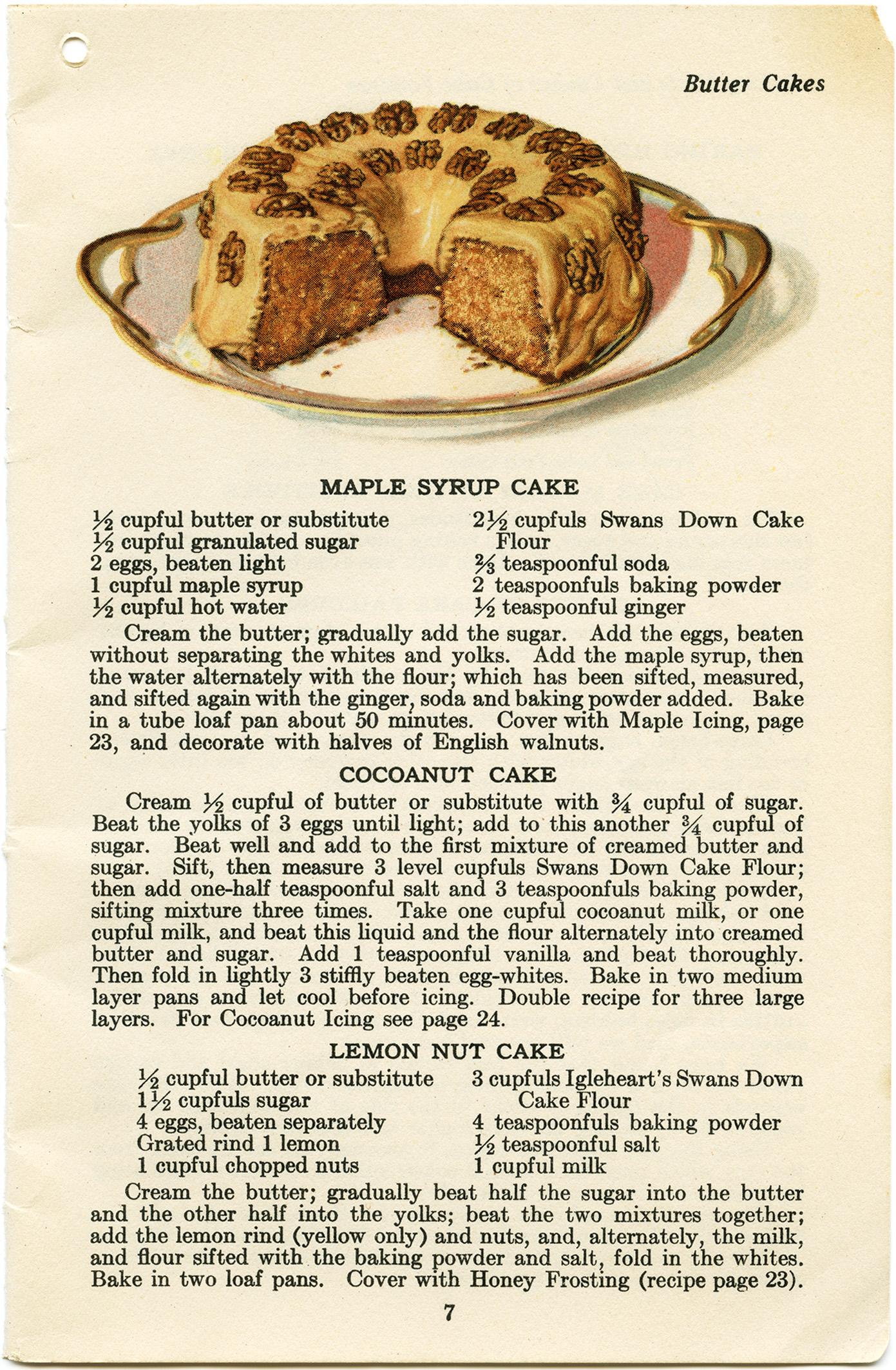 Maple Syrup Cake ~ Free Vintage Clip Art | Old Design Shop