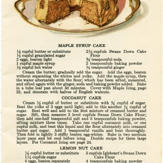 Maple Syrup Cake ~ Free Vintage Clip Art