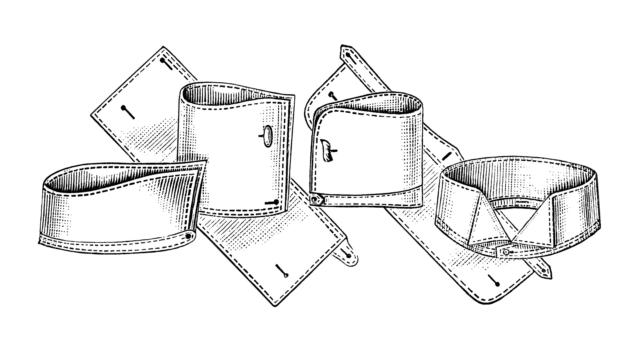 Men S Collars And Cuffs Free Sewing Clip Art