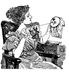 vintage sewing clipart black and white clip art lady doing embroidery work brainerd [ 1936 x 1908 Pixel ]