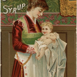 Mrs. Winslow's Soothing Syrup ~ Free Victorian Advertising Card Image