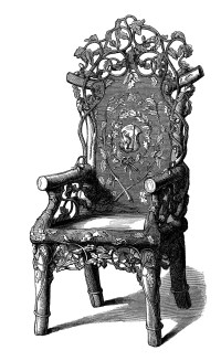 Antique Rustic Chair ~ Free Clip Art Image | Old Design ...