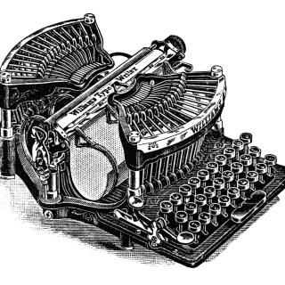 Antique Williams Typewriter ~ Magazine Ad and Clip Art