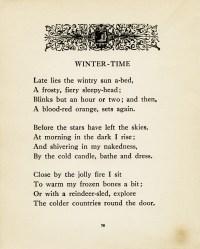 Winter-Time ~ Free Vintage Poem and Clip Art | Old Design ...