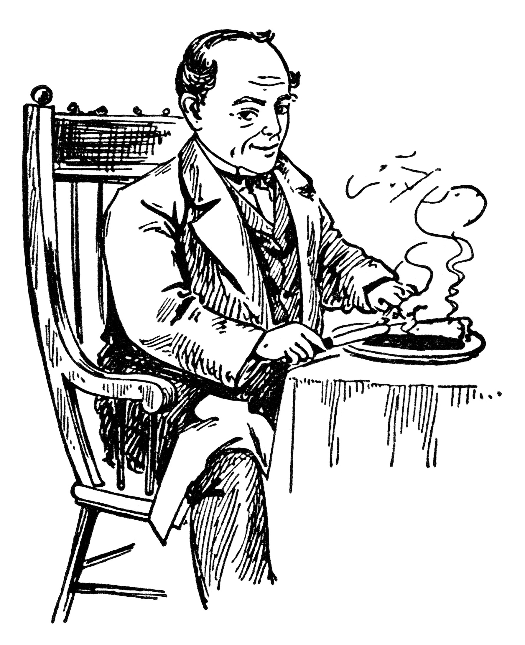 Atmore S Man Eating Pie Vintage Magazine Ad And Clip Art