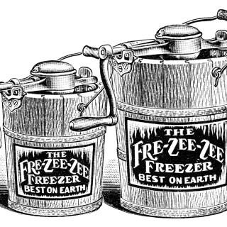 Antique Ice Cream Maker Clip Art