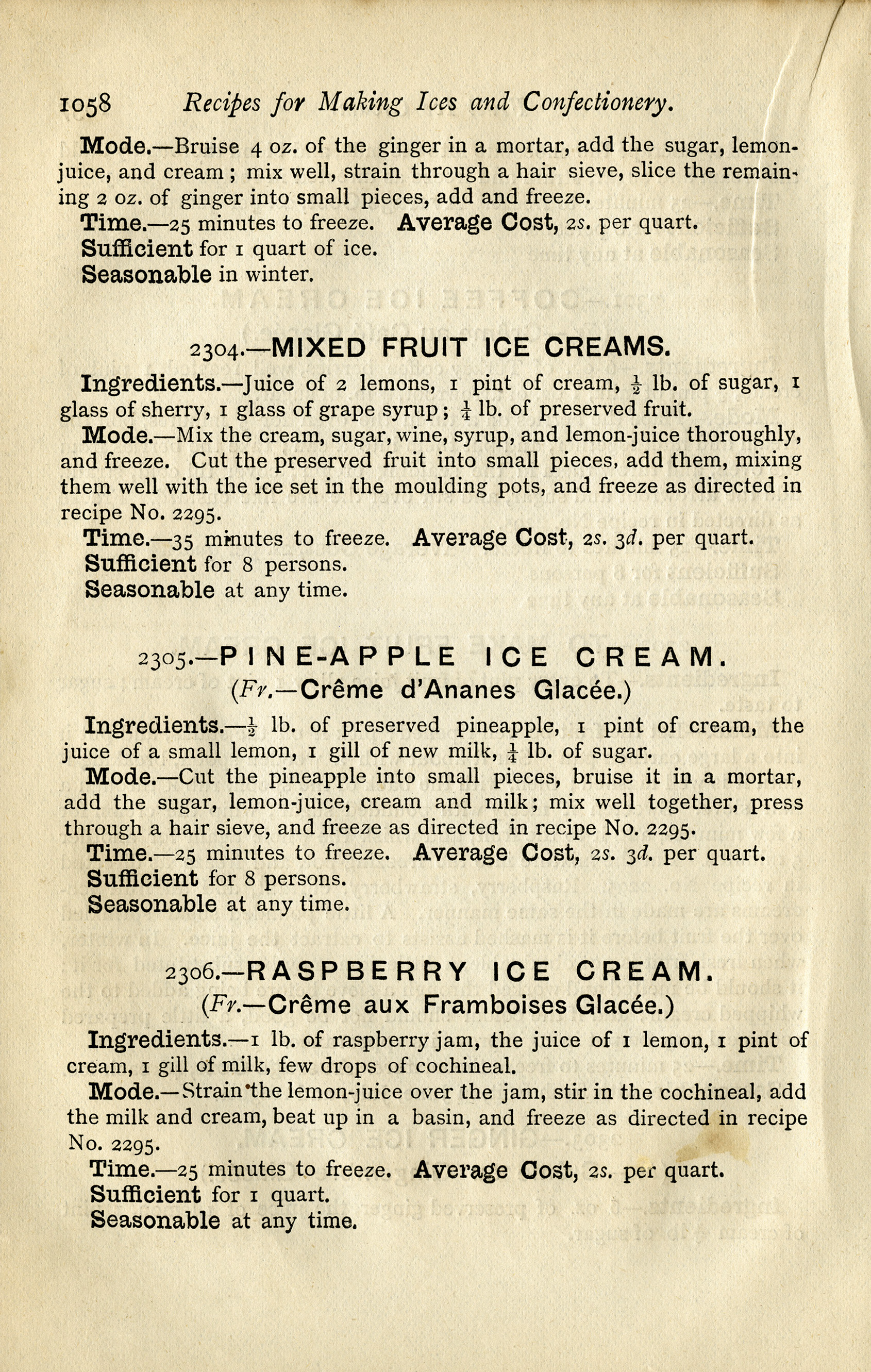 Vintage Ice Cream Recipes  Free Digital Graphics  Old