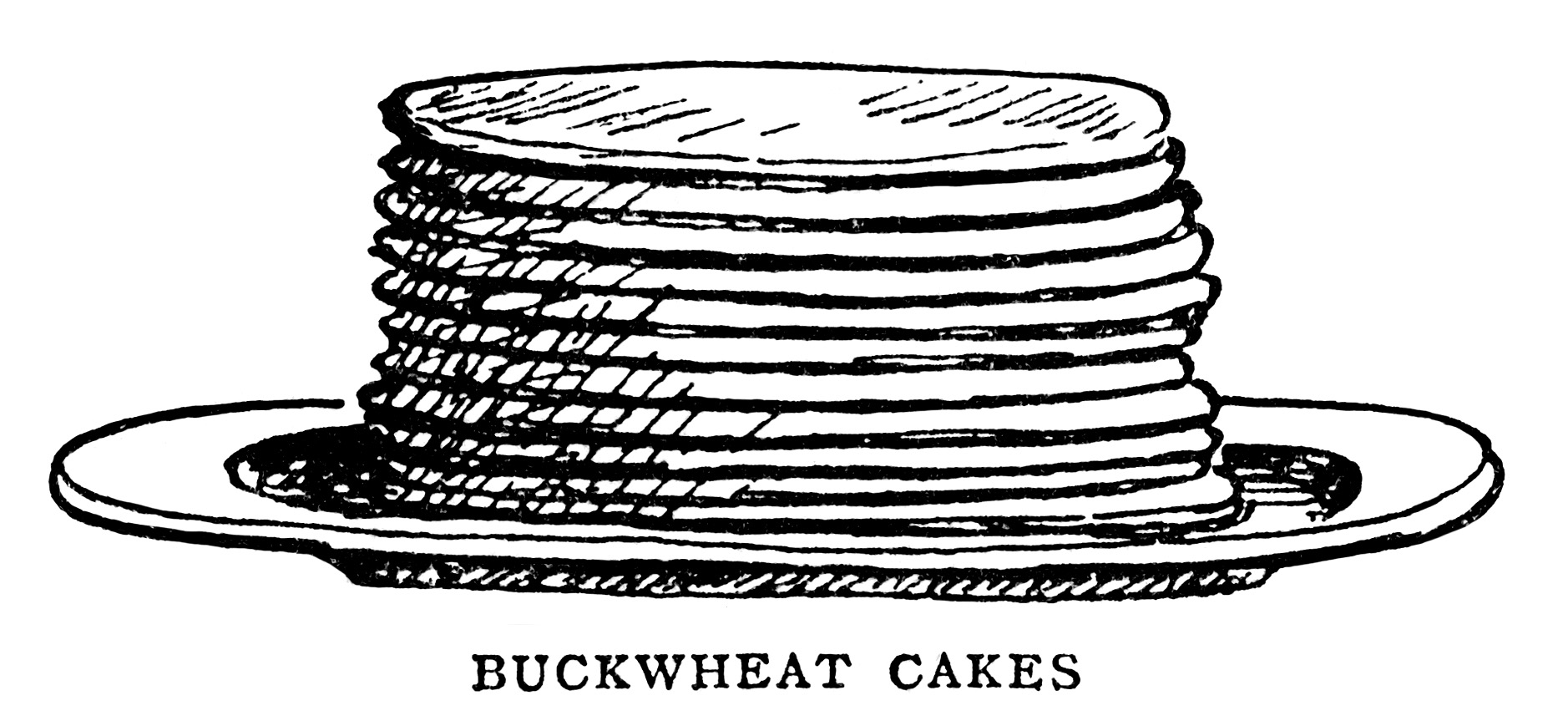 Pancakes Waffles And Popovers Free Vintage Clip Art