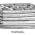 breakfast food clipart, black and white graphics, Mrs Beeton, pancakes waffles clip art, popovers image, vintage food illustration
