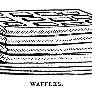 Pancakes Waffles Popovers Vintage Clip Art