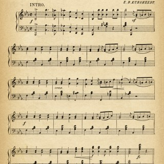 Cyclists' March ~ Free Vintage Sheet Music Pages