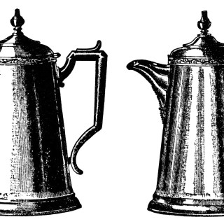 Vintage Tea and Coffee Pots ~ Free Clip Art