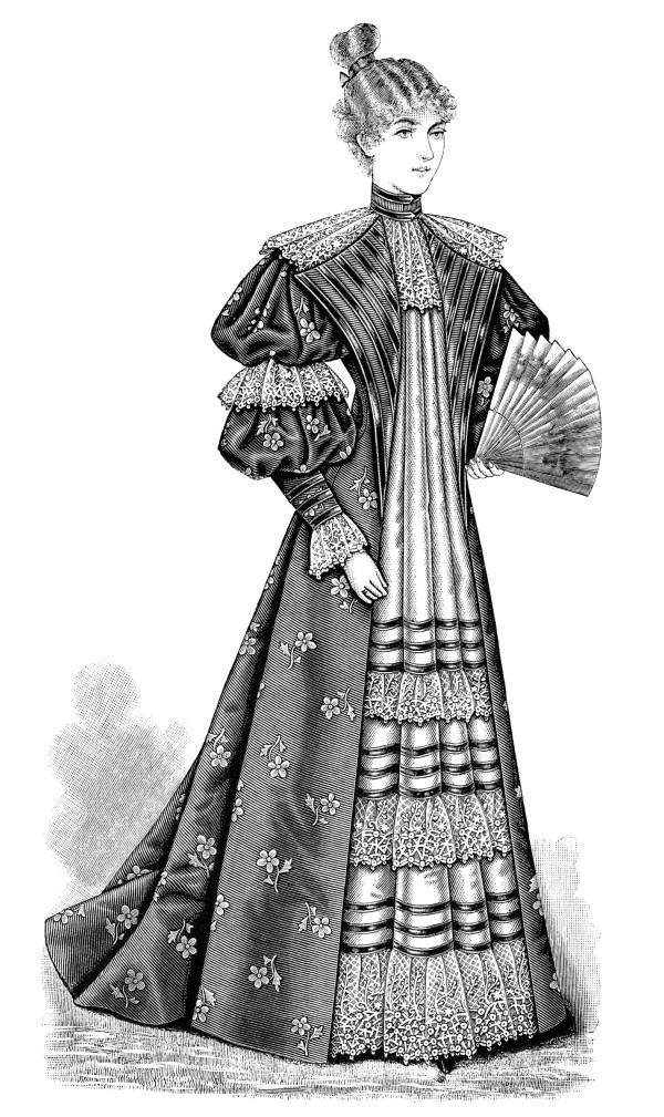 victorian ladies' tea gown 1895
