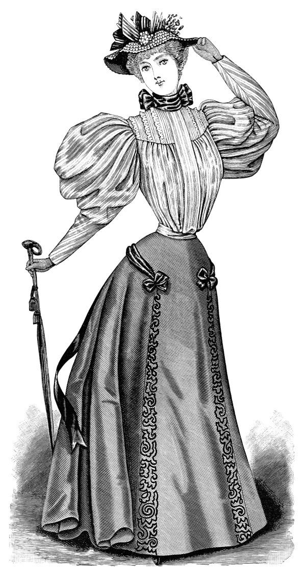 victorian lady clip art