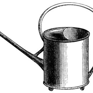 Free Vintage Gardening Clip Art ~ Watering Pail