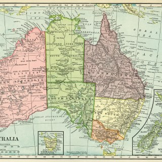 Historical Map of Australia ~ Free Vintage Image