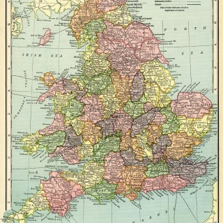 Map of England and Wales ~ Free Vintage Image