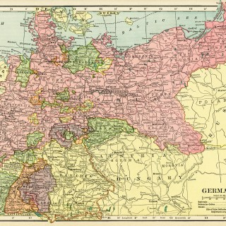 Historical Map of Germany ~ Free Vintage Image