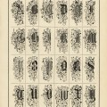 Victorian alphabet graphics, ornamental alpha, fancy monogram, old book page, vintage letters printable