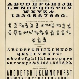 Standard Alphabets ~ Free Vintage Graphic