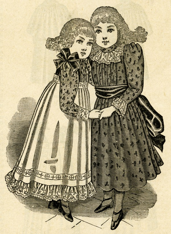 Vintage Victorian Girl Clip Art