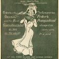 Feder's Pompadour, vintage magazine ad, Victorian lady, old fashioned advertisement, feders skirt protector