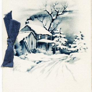Snowy Winter Country Scene ~ Free Vintage Image