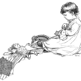 Little Penelope's Sewing ~ Free Vintage Clip Art