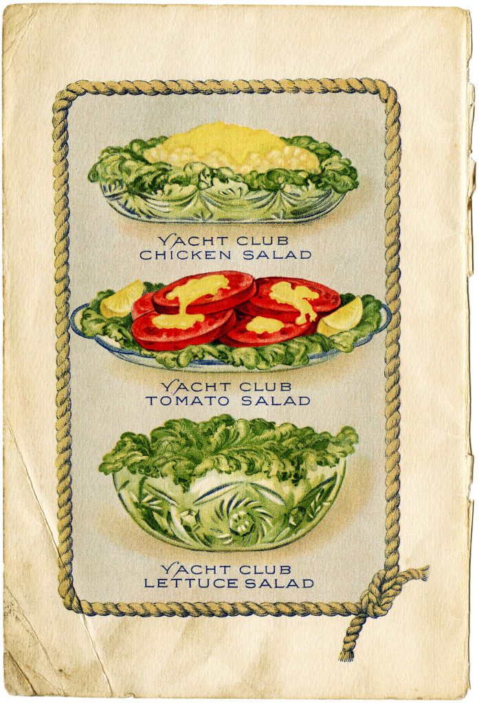 Yacht Club Salads Free Vintage Clip Art Old Design