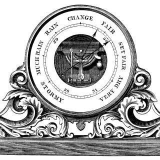 Aneroid Barometer ~ Free Vintage Clip Art