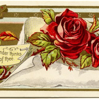 Victorian Roses Calling Card ~ Free Vintage Image