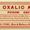 case drug store, vintage poison label, Halloween clip art, vintage druggist pharmacy label, oxalic acid poison, skull cross bones clipart