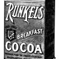 Runkel's chocolate, antique magazine advertising, black and white graphics free, vintage kitchen clip art, vintage chocolate graphics