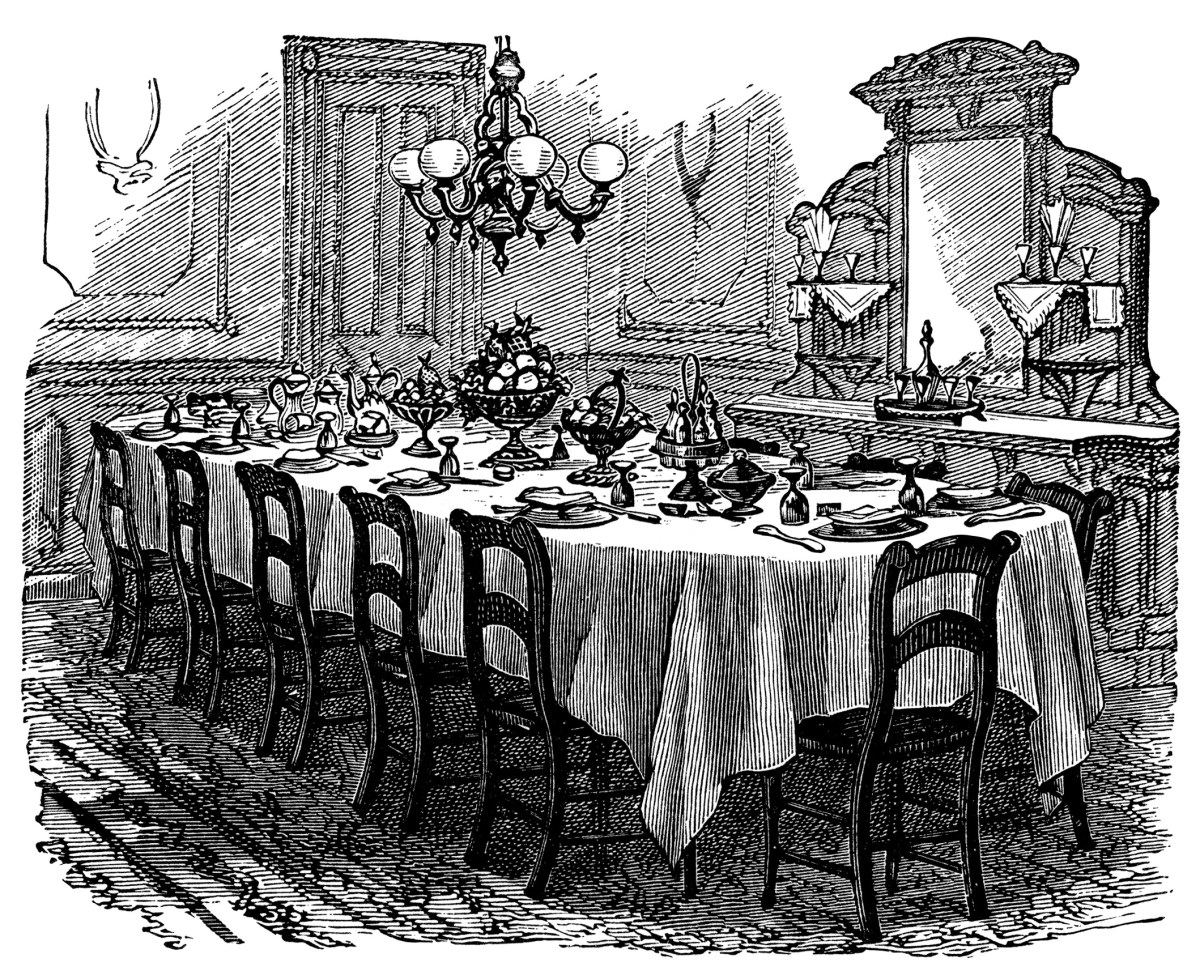 Victorian Table Setting Free Clip Art Old Design Shop Blog