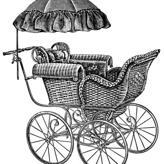 Baby Carriages ~ Free Vintage Clip Art