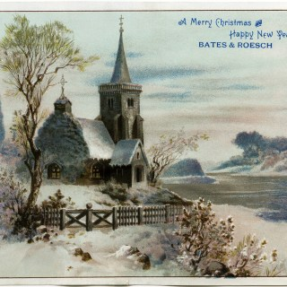 Country Church Scene~ Free Christmas Graphic