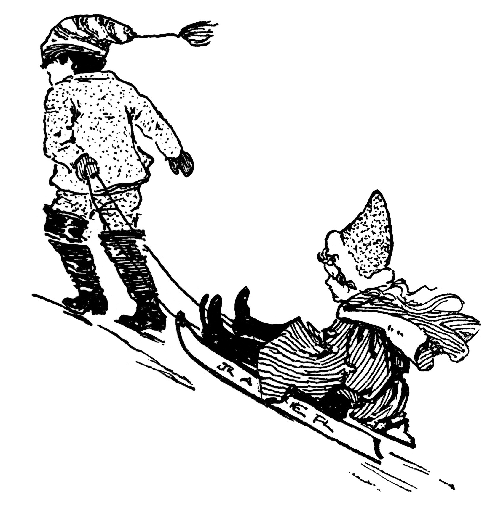 "Search Results for ""Sled Clip Art Black And White"