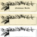 vintage Christmas frame, holly berries frame, black and white graphic, vintage frame clip art, Victorian Christmas illustration