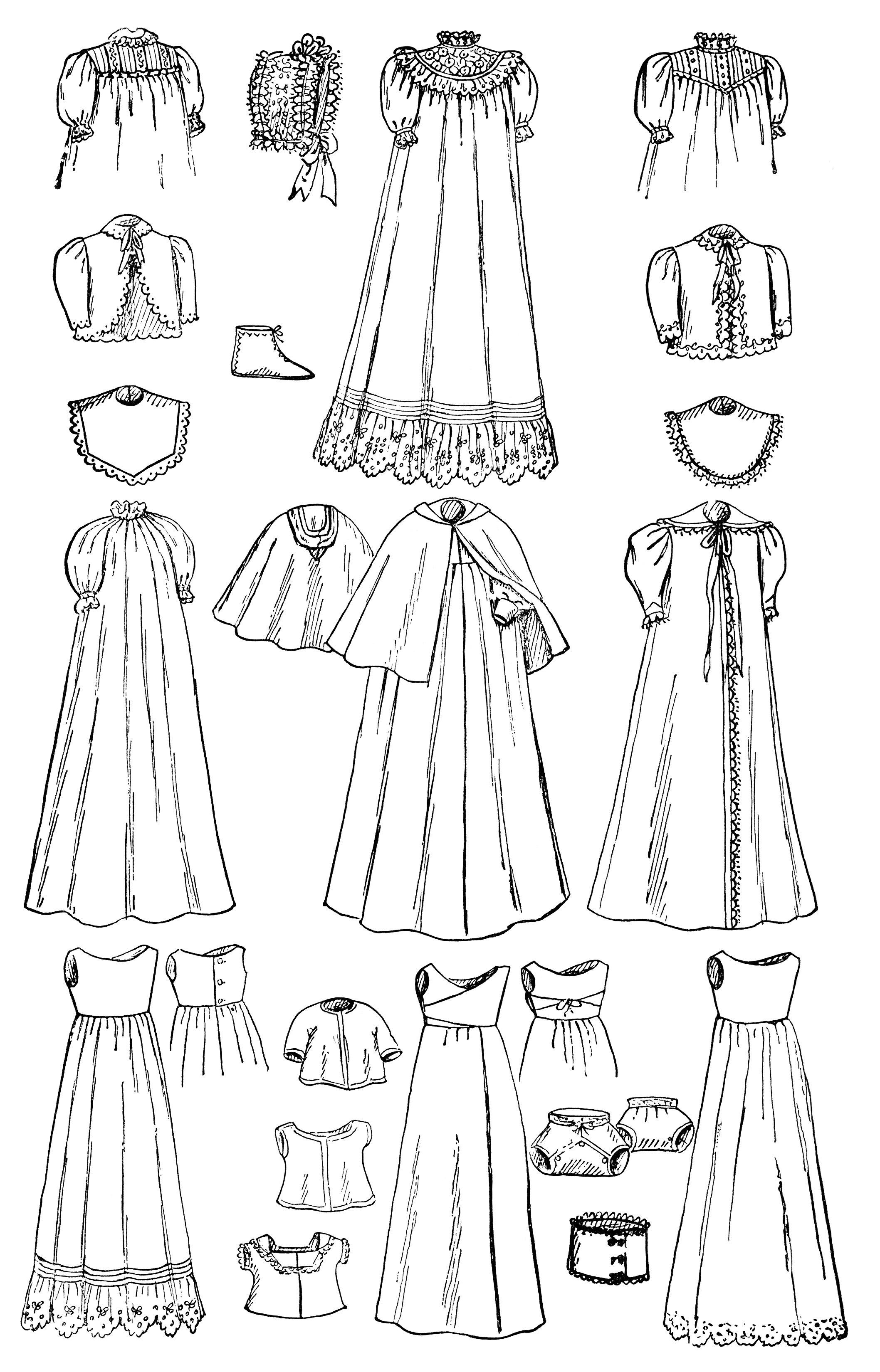 Infant S Wardrobe Free Vintage Clip Art
