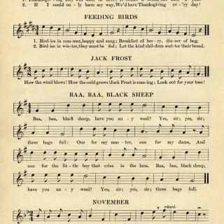 Kindergarten Songs for November ~ Free Graphic