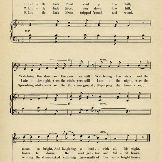 Little Jack Frost Sheet Music ~ Free Vintage Graphic