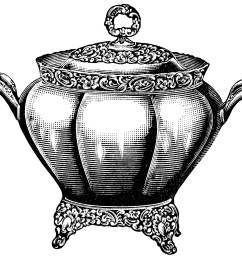 black and white graphics free vintage kitchen clip art soup tureen illustration antique [ 1646 x 1507 Pixel ]