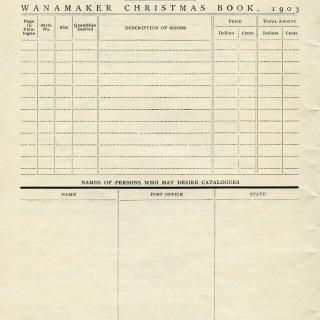 Christmas Order Form ~ Free Vintage Graphics